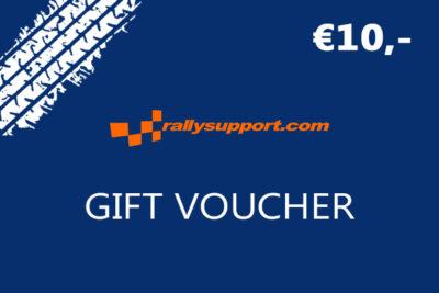 Rallysupport Gift voucher 10 euro