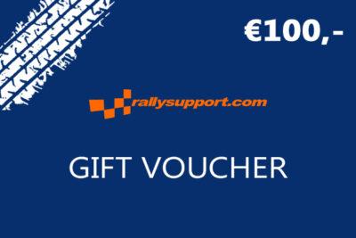 Rallysupport Gift voucher 100 euro