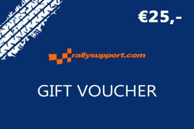 Rallysupport Gift voucher 25 euro